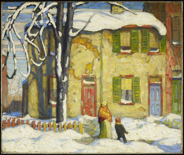 "Lawren S. Harris, ""Old Houses, Toronto, Winter,"" 1919"