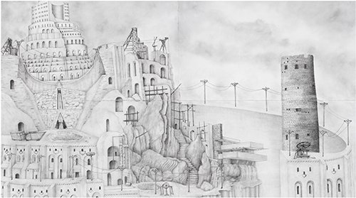 "Keith Langergraber, ""Library of Babel,"" 2016"