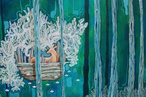 """Ricardo Copado, """"The Forest of the Two Countries (Mother Deer)"""""""