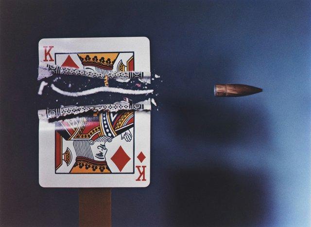 """Harold E. Edgerton, """"Bullet Through King,"""" 1964"""
