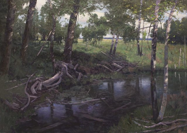 "Chris Flodberg, ""Shaded Pond,"" 2016"