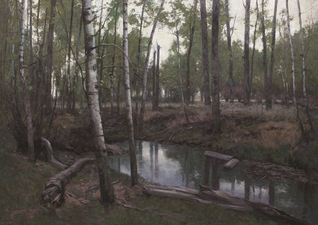 "Chris Flodberg, ""Shaded Pond, Prairie Forest"" 2016"
