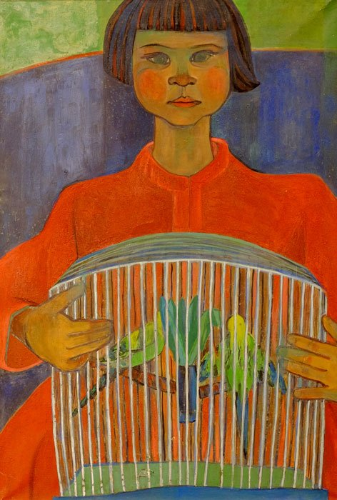 """Setsuko Piroche, """"Kazuko,"""" c.1950's"""