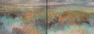 """Diana Zasadny, """"Near the Tipi Rings, Grasslands National Park,"""" 2015"""