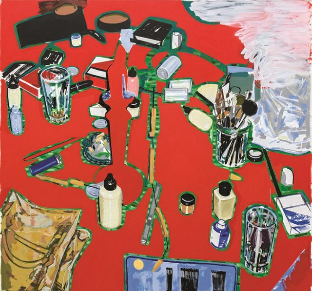 """Damian Moppett, """"Red Table,"""" 2013"""