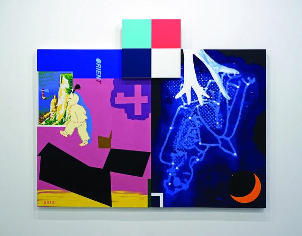 """Ron Moppett, """"Studio Night Orient,"""" 2015"""