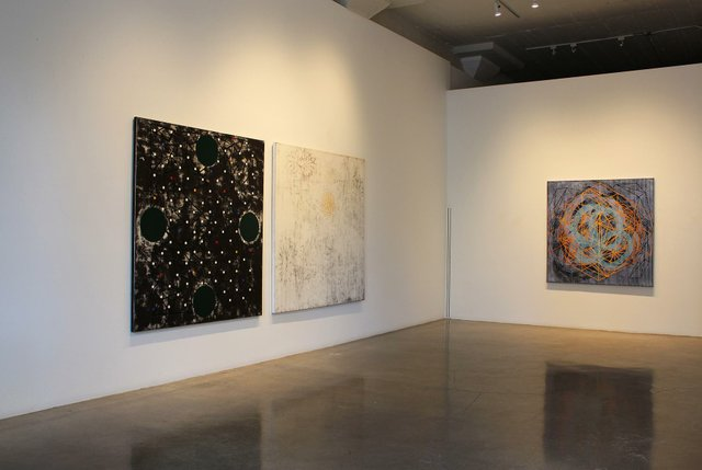 Geoffrey Hunter installation at Paul Kuhn Gallery