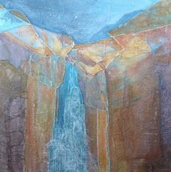 "Sharon L. Wagner, 'Waterfall"""