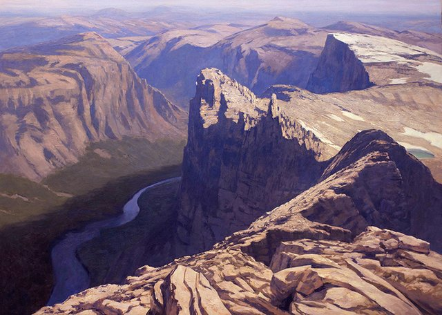 "Chris Flodberg, ""Cliff And Valley,"" 2016"