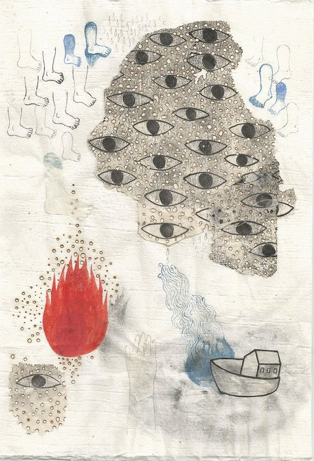 "Tomoyo Ihaya, ""Sketch for Eyes Water Fire,"" 2016"
