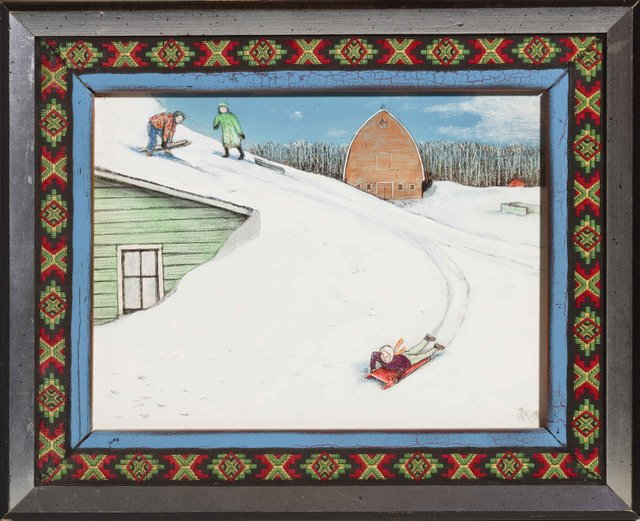 "William Kurelek ( 1927-1977), ""After the Big Blow,"" 1974"