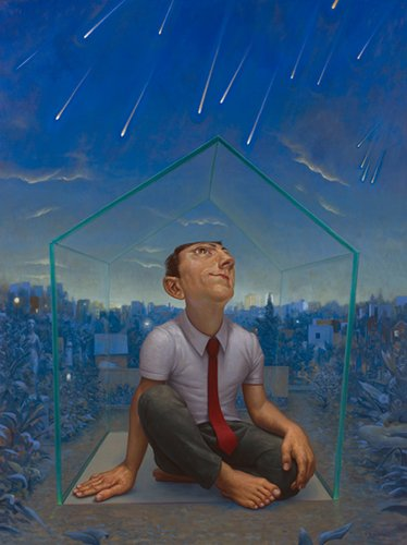 "Michael Abraham, ""Glass House/Meteor Shower"""