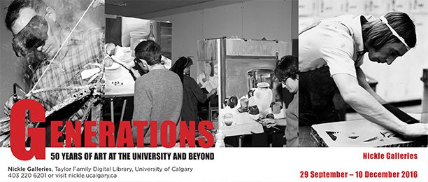 University of Calgary Art Department students 1968 – 1970, courtesy of Archives and Special Collections