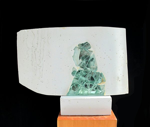 Wanda Ellerbeck, cast concrete, recycled glass