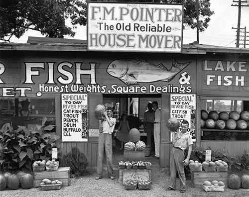 "Walker Evans, ""Roadside Sign near Birmingham, Alabama,"" 1936"