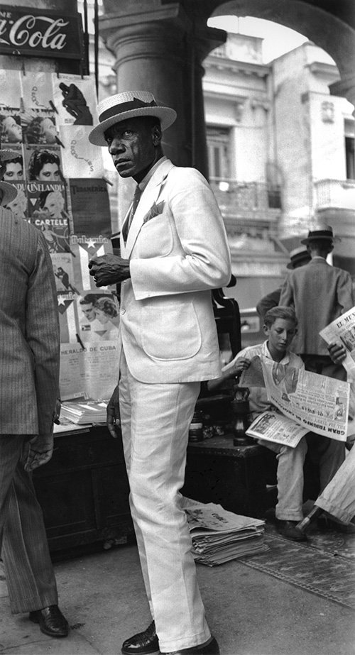 "Walker Evans, ""Citizen in Downtown Havana,"" 1933"
