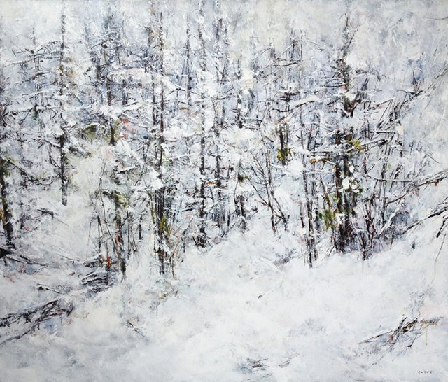 "Judy Cheng, ""Winter Mountain Top,"" 2016"