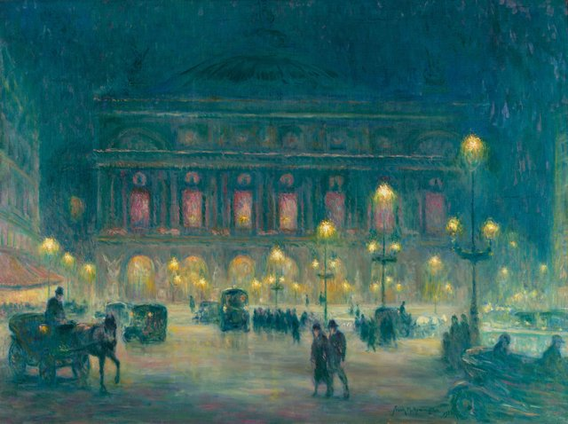 "Frank Armington (1876 -1941), ""Place de L'Opera, Paris,"" 1926"
