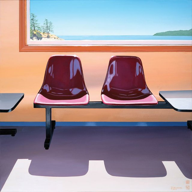 "Tad Suzuki, ""Galiano Waiting Room,"" 2016"