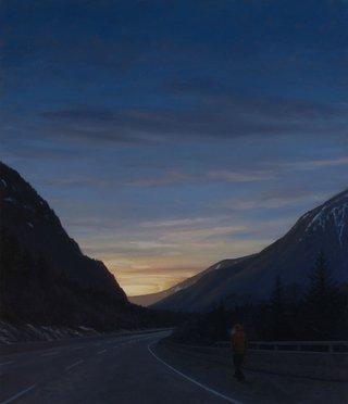 """Tim Gardner, """"Man on Highway, Going for Gas,"""" 2016"""