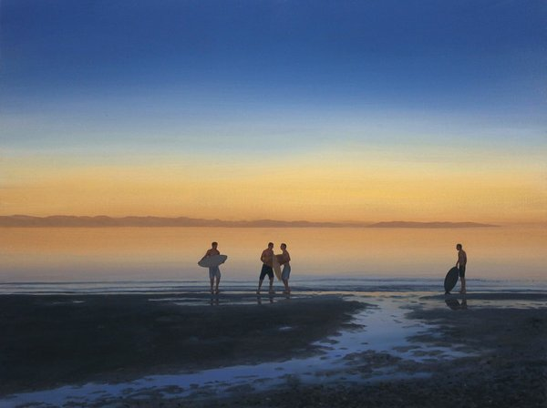 "Tim Gardner, ""Boys on Beach, Saratoga,"" 2016"