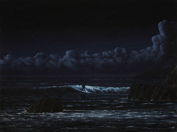 "Tim Gardner, ""Surfer in Moonlight,"" 2016"