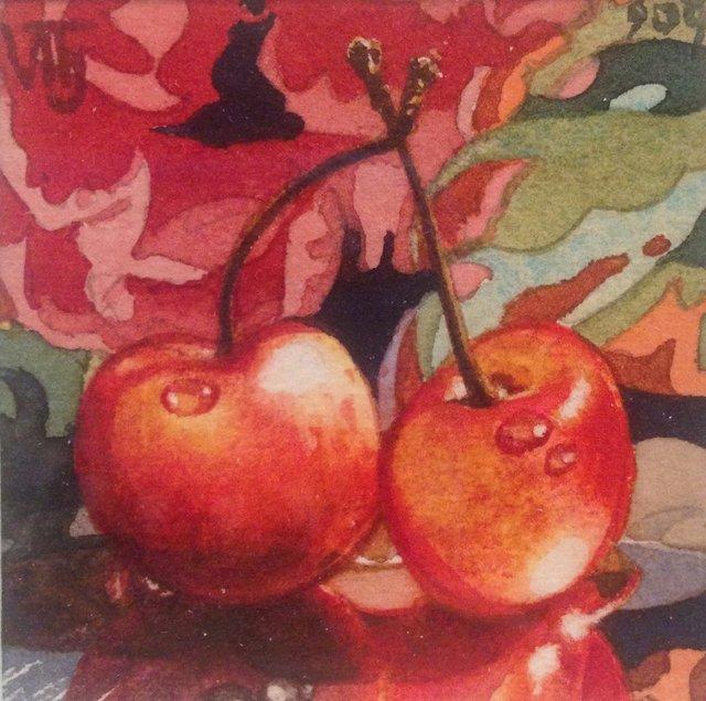 """Vivian Thierfelder, """"Cherries Red,"""" nd"""