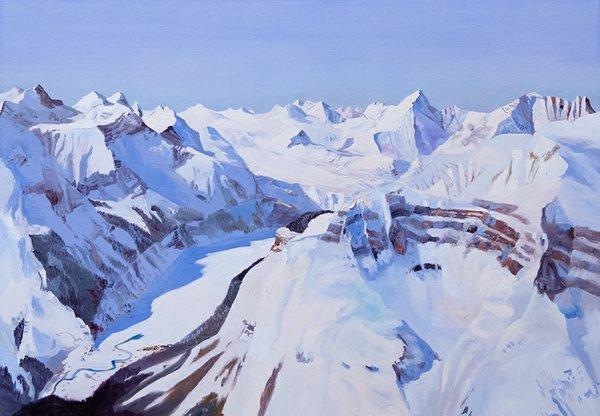 "John Hartman, ""Freshfield Lake and Mt. Freshfield,"" 2016"