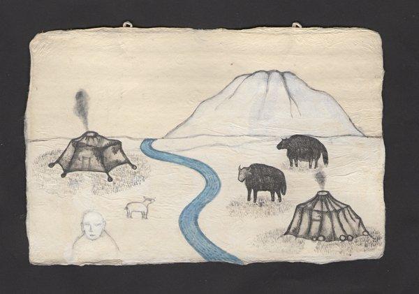 "Tomoyo Ihaya, Drawing for art video ""Eyes Water Fire,"" 2016"