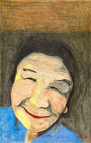 "Jutai Toonoo, ""Woman with Blue Shirt,"" nd"