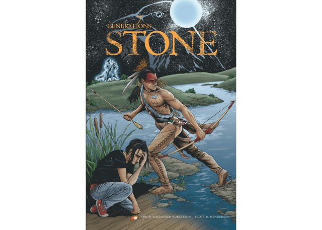 "The cover of ""Stone,"" book one in David Robertson's 7 Generations series."
