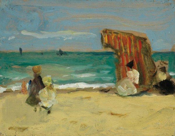 "J.W. Morrice, ""Figures on a Beach,"" circa 1905-1906"
