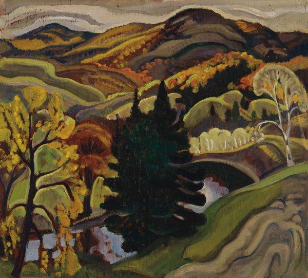 """Anne Douglas Savage, """"St Sauveur des Monts, Quebec,"""" 1937"""