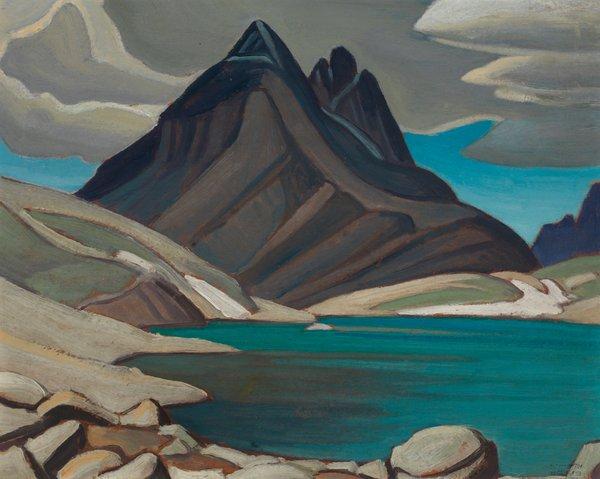 """Lawren Harris, """"Mount Odaray from Lake McArthur / Rocky Mountain Sketch CXXV,"""" circa 1926-1928"""