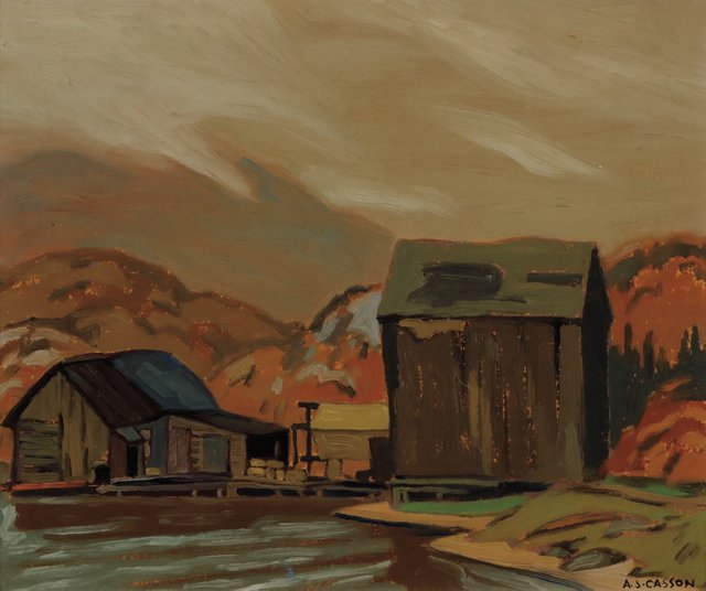 """A.J. Casson, """"Ice House, Coldwell Bay,"""" 1928"""