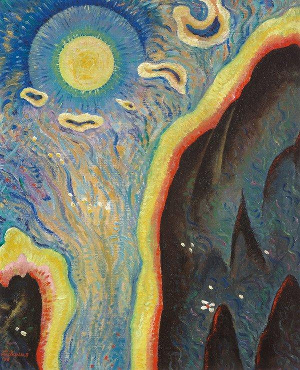"J.W.G.  (Jock) Macdonald, ""Daybreak (Modality Series),"" 1936"