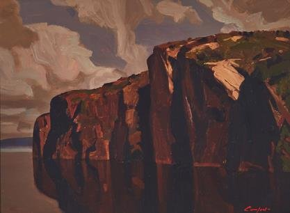 "Charles Comfort, ""Whitman Monument (Bon Echo Rock, Mazinaw Lake),"" nd"
