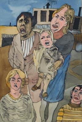 "Maxwell Bates, ""Eviction,"" 1967"