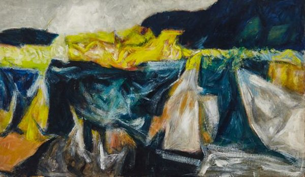 """Dennis Burton, """"Bridge Near Macleod,"""" 1958"""