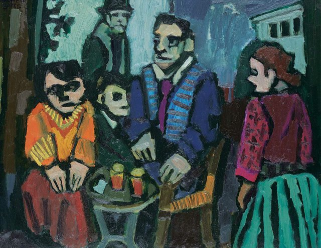 "Maxwell Bates, ""Café,"" 1960"