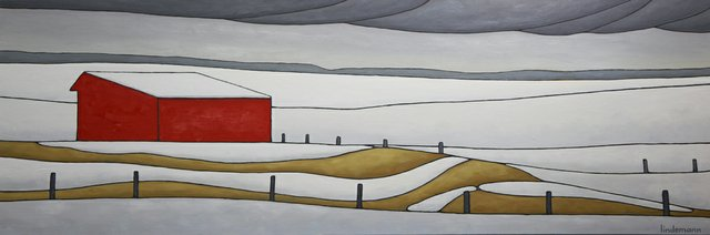 "Linda Lindemann, ""More Snow Coming - Ardrossan,"""