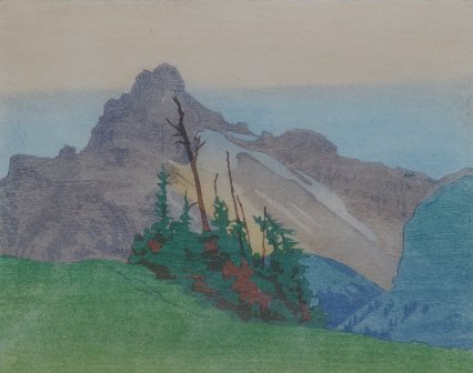 """Walter J. Phillips RCA (1884-1963), """"The Mountain,"""" 1927"""
