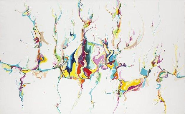 """Alex Janvier, """"Untitled,"""" 1986"""