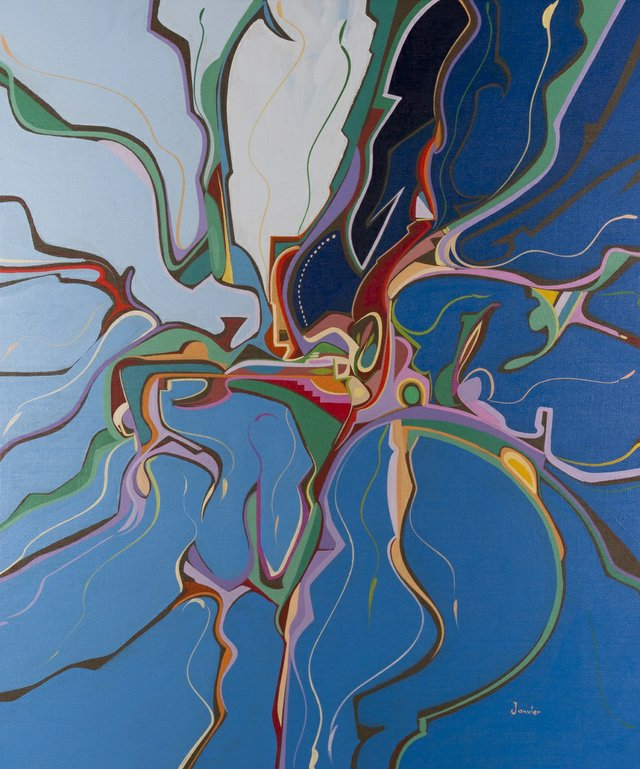 "Alex Janvier, ""Cold Lake Air,"" 1994"