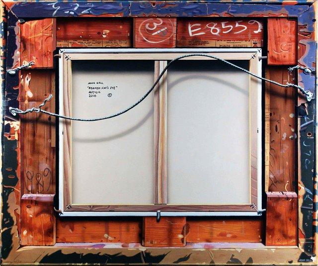 """John Hall, """"Framed: Cat's Eye (Verso),"""" nd"""