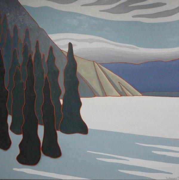 "Linda Lindemann, ""Late Season Ski Trip - Jasper,"" 2016"