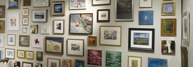 Annual Small Works Wall at Petley Jones Gallery