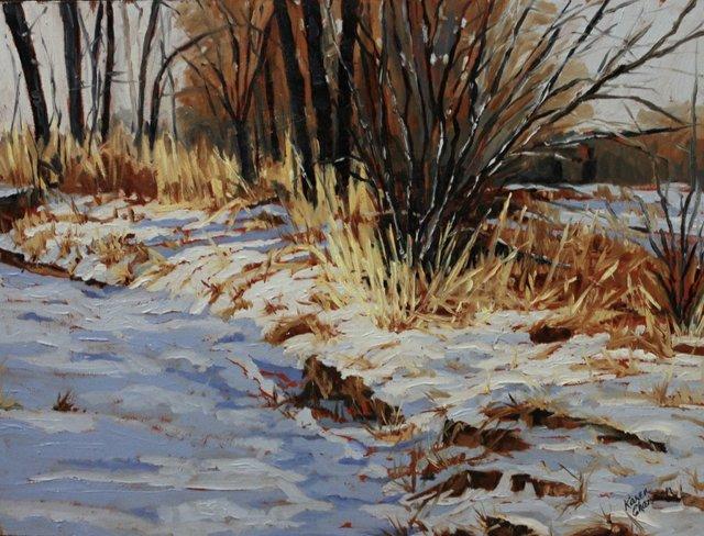 "Karen Chiasson, ""Cochrane Winter on the Bow,"" 2016"