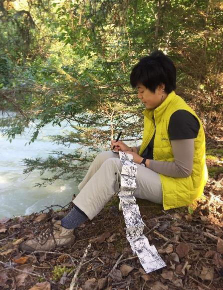 Visual Artist Julie Zhu – Chilkoot Trail Artist Residency 2016