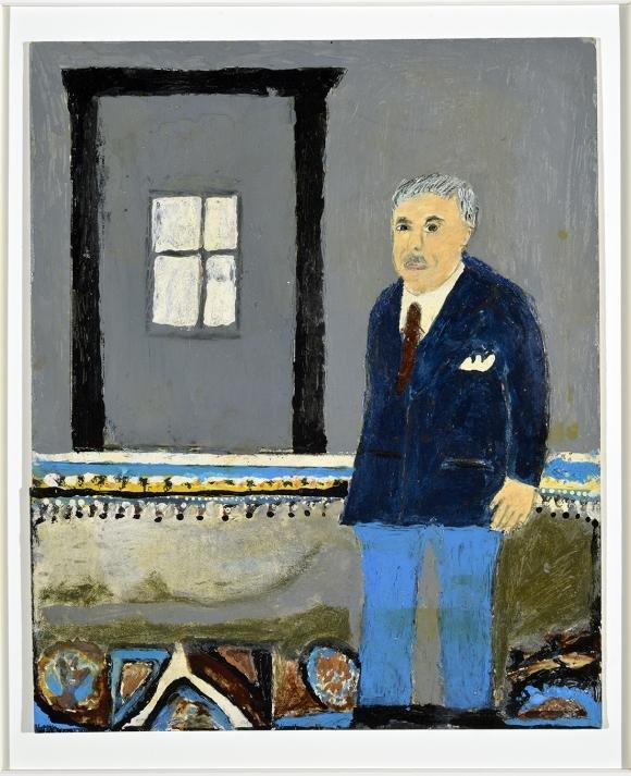 """Dmytro Stryjek, """"Self-portrait,"""" 1984"""